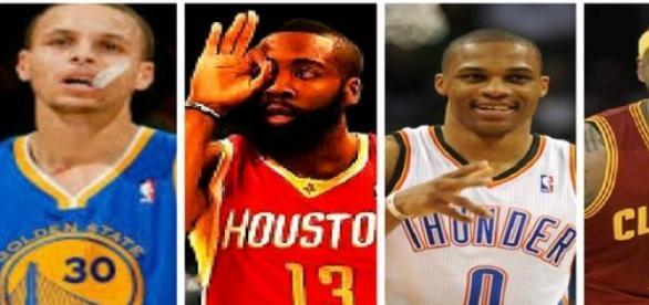 Los cuatro principales aspirantes al título.