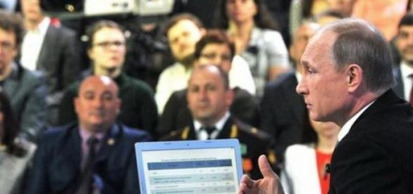 Putin la o televiziune din Rusia