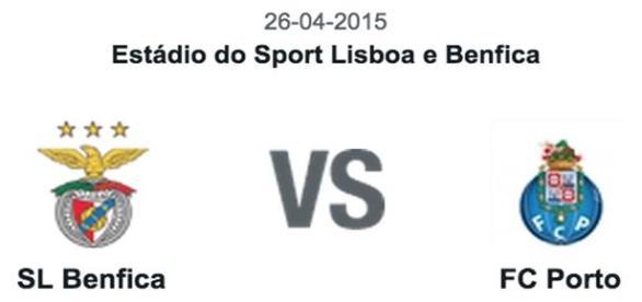 Benfica vs Porto. 30ª jornada da Liga NOS
