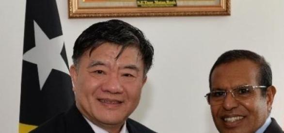 Chen Zhu reuniu-se com Taur Matan Ruak em Dili