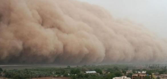 Ameaça de massiva nuvem de areia