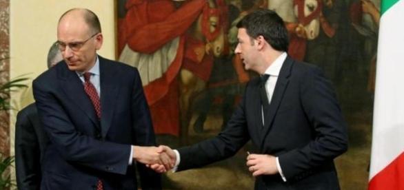 Enrico Letta e Matteo Renzi