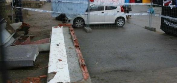 Muro que vitimou os três estudantes