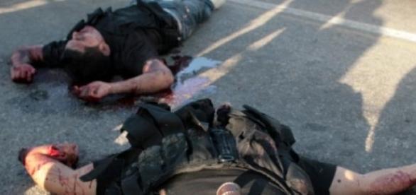 agresiune, ambuscada, politisti