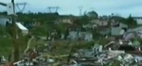 El tornado destruyó el 30% de la ciudad de Xanxeré