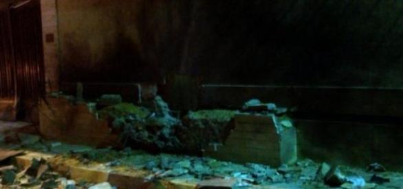 Imagen de como actuó el artefacto en la embajada