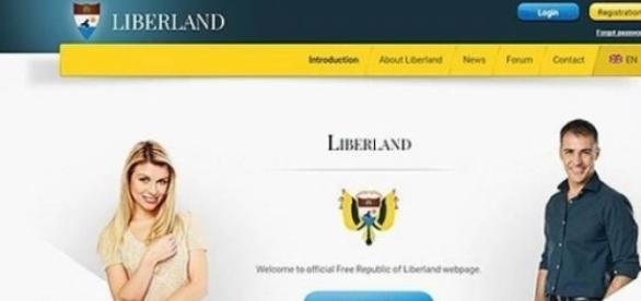 La page d'accueil du site web du Liberland.