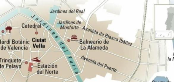 Mapa practico de Valencia con lo más emblemático