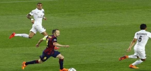 Iniesta passeur décisif face au PSG