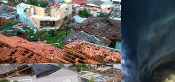 Tornado deixa mais de mil desabrigados em SC