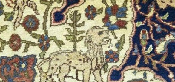 alfombra realizada por huérfanos armenios