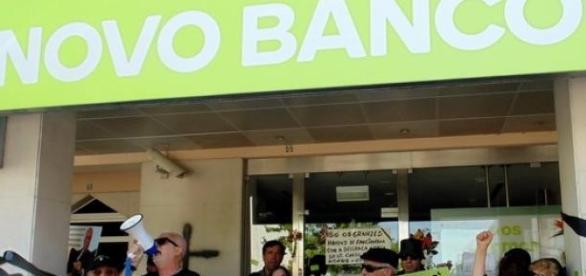 Mais um protesto dos indignados do BES