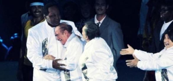 Didi e Dedé se emocionaram durante festa na Globo