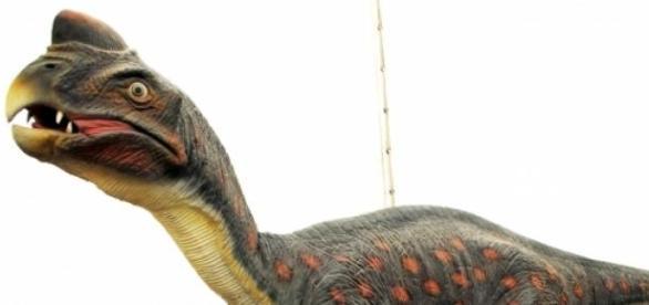Representación de un dinosaurio. HombreDHojalata