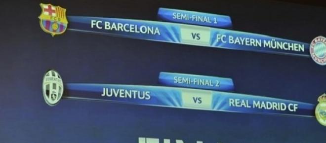 Semifinalele Uefa Champions League