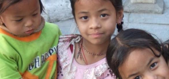 Kinder in Nepals Hauptstadt Kathmandu
