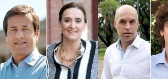 Recalde, Michetti, Rodríguez Larreta y Lousteau.