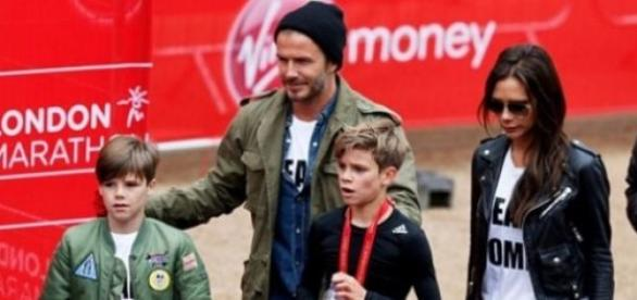 Os Beckham: Cruz, David, Romeo,Victoria e Brooklyn