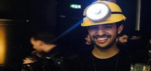 Sami Slimani beim Minion Event in London.