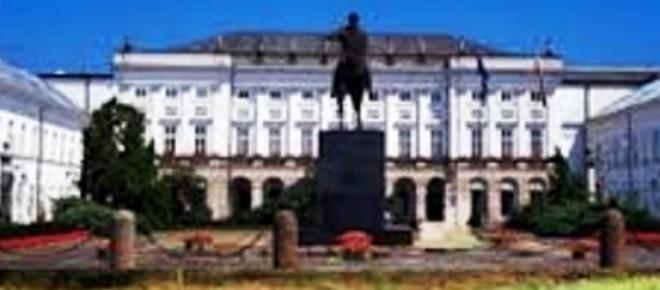 warzywniak przed Pałacem Prezydenckim - fotomontaż.