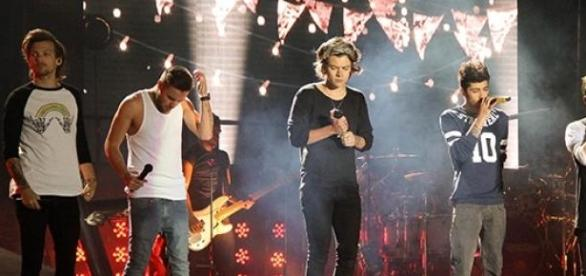One Direction bei einem Konzert in Chile.