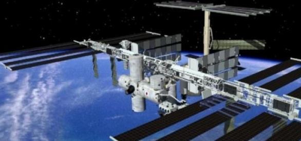 Na imagem a Estação Espacial Internacional