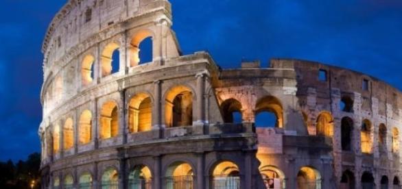 O Colisseu símbolo de Roma, capital da Itália