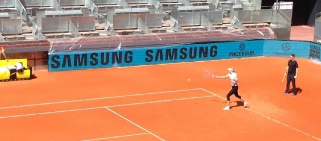 Maria Sharapova, entrenando esta semana en Madrid