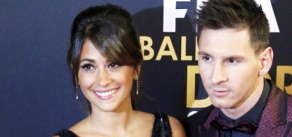 Lionel Messi e sua esposa