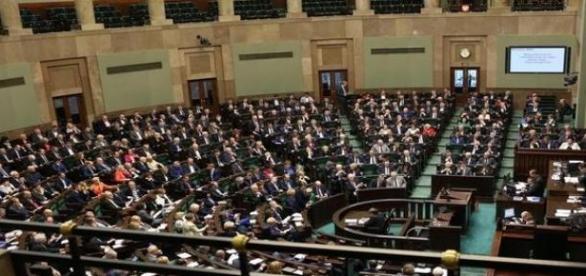 Sejm RP podczas posiedzenia