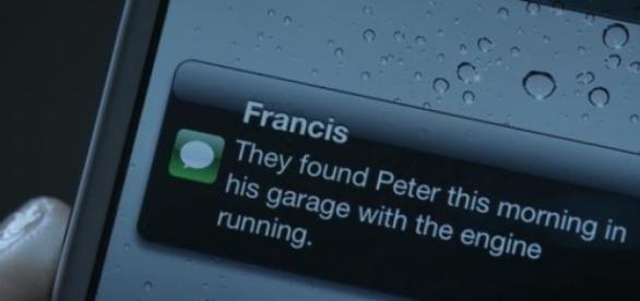 Frank noticia morte de político à sua esposa