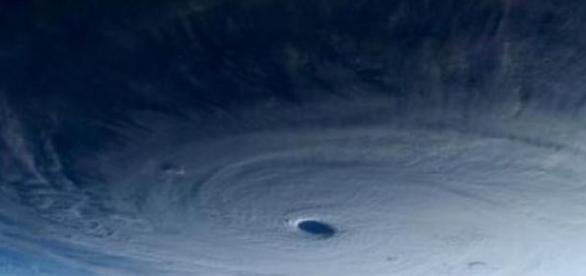 Imagen desde la Estación Espacial del tifón