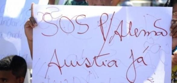 Protesto no Morro do Alemão por menos violência