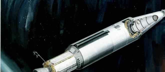 Ilustración del cohete del SNAP-10A