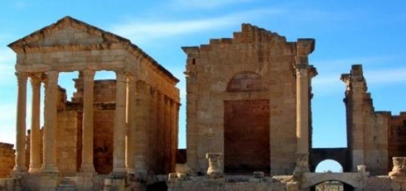 Sítio arqueológico de Sbeitla, na Tunísia