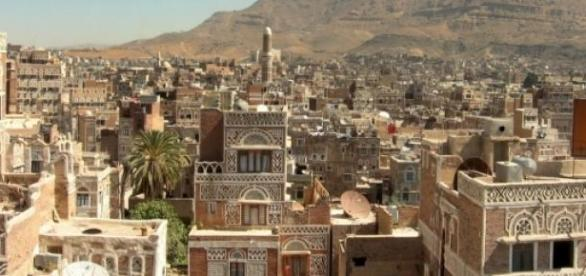 Vista aérea de Cidade do Iêmen