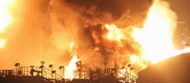 5° dia de incêndio em Santos
