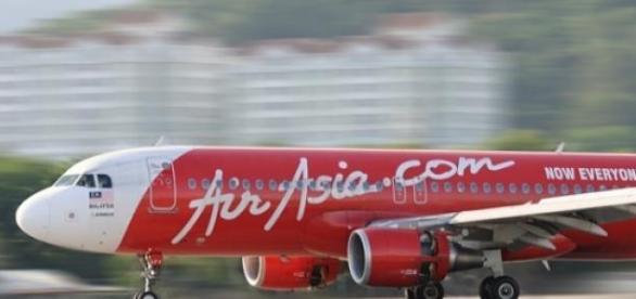 Avião da Cia aérea asiática AirAsia