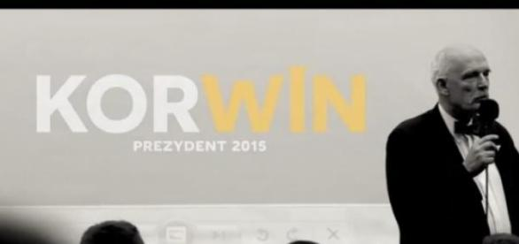 Kadr spotu wyborczego Korwina Mikke: YouTube