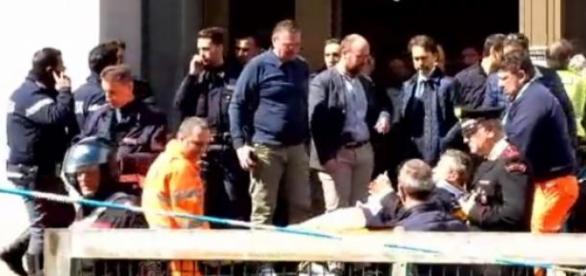 Evacuación de los heridos del Palacio de Justicia