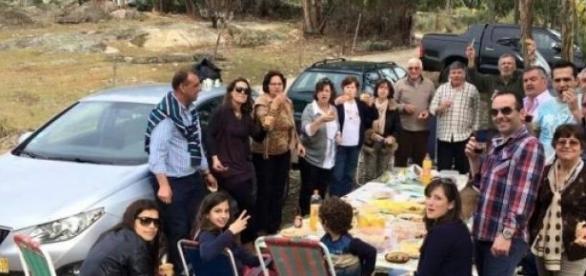 Família Manteiga na romaria da Senhora da Redonda