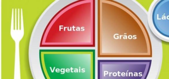 Gráfico de uma refeição equilibrada.