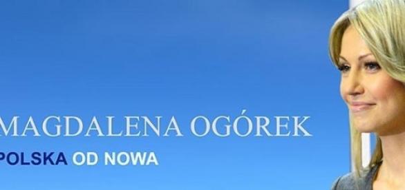 Poster wyborczy Magdaleny Ogórek, mat. prasowy