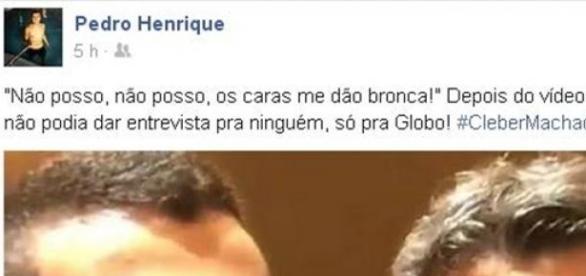 Publicação de Pedro Henrique no Facebook