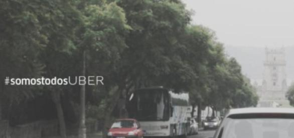 A Uber está a promover a tag #somostodosuber.