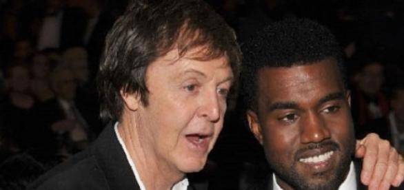 "Paul  junto  Kenye West promocionando ""Only One"","