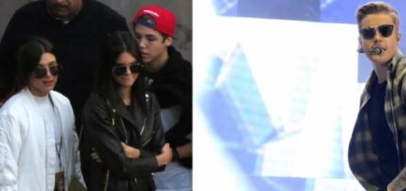 Hailey e Kendall assistem ao concerto de Bieber