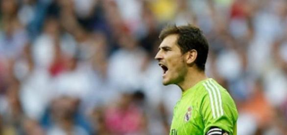 Casillas, en un partido del Real Madrid