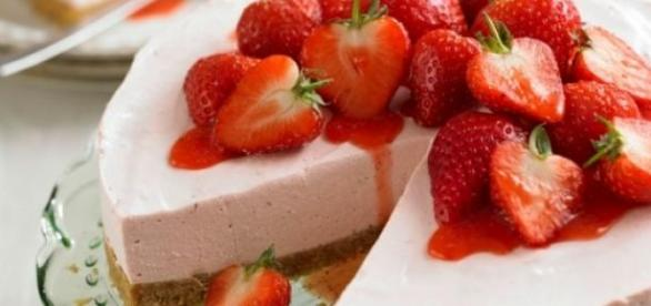 cheesecake americana alle fragole