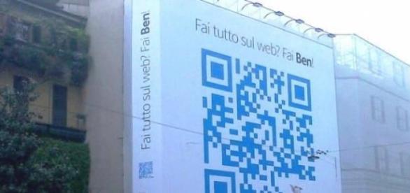 Código QR de BEN el la Via Amici de Milán